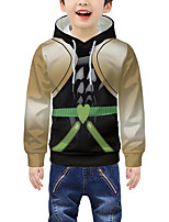 cheap -Kids Boys' Active 3D Graphic Print Long Sleeve Hoodie & Sweatshirt Khaki