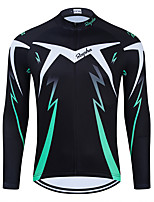 cheap -WECYCLE Men's Women's Long Sleeve Cycling Jersey Winter Black Bike Top Mountain Bike MTB Road Bike Cycling Breathable Sports Clothing Apparel / Stretchy / Athletic