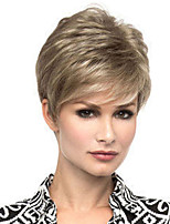 cheap -Synthetic Wig Straight Asymmetrical Wig Short Light Brown Synthetic Hair Women's Fashionable Design Exquisite Light Brown