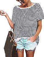 cheap -tie dye tops for women short sleeve loose fit casual summer t shirts l