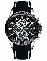 cheap -chronograph quartz watches men army sport silicone strap waterproof luminous wrist watch man