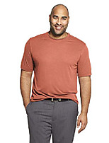cheap -men's big and tall air short sleeve doubler crew neck tee, red barn, x-large tall