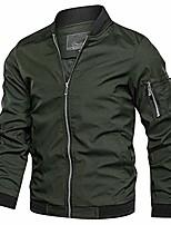 cheap -men's lightweight bomber jacket casual spring fall softshell slim flight coat outerwear