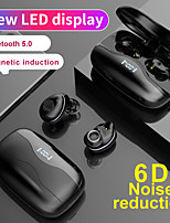 cheap -LITBest Wireless Earbuds TWS Bluetooth 5.0 Headset Stereo Sports LED Digital Display Wireless Earphone Earbuds Microphone LX_W16
