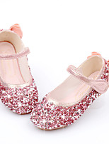 cheap -Girls' Flats Comfort / Flower Girl Shoes / Princess Shoes Faux Fur / PU Little Kids(4-7ys) Walking Shoes Bowknot / Pearl Pink / Gold / Silver Spring / Fall / Party & Evening