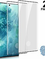 """cheap -[2 pack] for galaxy note 10 screen protector (6.3""""), tempered glass [fingerprint id unlock support] [anti-scratch] [3d curved full edge coverage] hd glass film for samsung galaxy note 10 5g"""