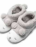 cheap -warm indoor slippers for women fleece plush bedroom winter boots grey high top 9-10.5 m us