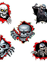 cheap -3D Skeleton Skull In The Bullet Hole Car Stickers Funny Colorful Car Stickers Auto Automobile Decals