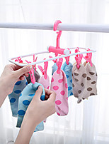 cheap -12 Clip Folding Drying Rack Underwear Socks Multi-functional Clothes Hot Sale High Quality New Patterns