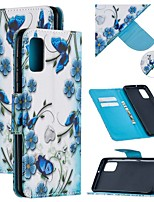 cheap -Case For Samsung Galaxy A21S Wallet  Card Holder  with Stand Full Body Cases Butterfly PU Leather Galaxy Note 20 Ultra S20 Plus A01 A11 M11 A21 A31 A41 A51 A71 5G Note 10 M31S