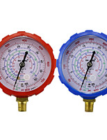 cheap -Good Air Conditioning Manifold Gauge High/Low Pressure R134a R404a R22 R410a Refrigerant Manometer With Valve 500PSI 800PSI