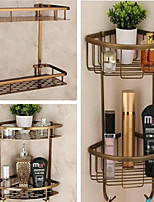 cheap -Shower Caddy Organizer for Kitchen Toilet 2-tier Bathroom Corner Shelves with Hook Aluminum - Wall Mounted