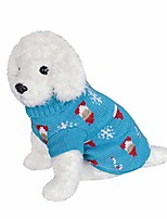 cheap -christmas turtleneck sweaters for dog thickening warm pup knitwear doggie winter clothes (blue,l)