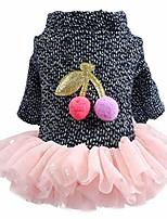 cheap -pet skirt autumn winter comfortable cat dog clothing dress skirt puppy bowknot princess for small pet dog