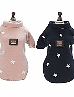 cheap -puppy hoodie sweater dog coat warm sweatshirt stars pattern dog shirt pet clothes for small dogs and cats