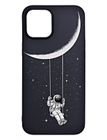 cheap -Case For Apple iPhone 12 / iPhone 12 Mini / iPhone 12 Pro Max Frosted / Pattern Back Cover sky TPU