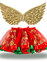 cheap -Princess Cosplay Costume Costume Girls' Movie Cosplay Tutus New Year's Golden / Silver Skirt Wings Christmas Halloween Carnival Polyester / Cotton Polyester