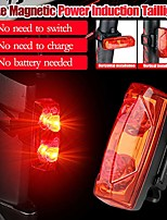 cheap -bike tail light - bike magnetic power induction tail light bicycle riding warning-lamp taillight, for road bike/curise bike 7-20 days delivered (black)