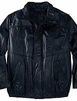 cheap -men's big & tall leather bomber jacket - tall - xl, black