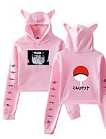 cheap -Inspired by Naruto Cosplay Akatsuki Uchiha Itachi Crop Top Hoodie Polyester / Cotton Blend Print Printing Crop Top For Women's