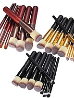 cheap -professional cosmetic makeup make up brush brushes set kit(black/s(pointed-end))
