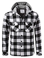 cheap -ffj0102_2x hooded flannel jacket quilted iined white/black 2x