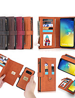 cheap -Case For Samsung Galaxy S9 PLUS S10E S10 PLUS NOTE 9 NOTE 10 PLUS S20 PLUS S20 ULTRA NOTE 20 NOTE 20 ULTRA Shockproof Flip Full Body Cases Solid Colored TPU Card Holder PU Leather