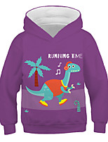 cheap -Kids Toddler Boys' Active Streetwear Graphic Letter Print Long Sleeve Hoodie & Sweatshirt Purple