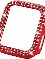 cheap -sparkle compatible with apple watch 38mm 40mm 42mm 44mm,compatible with iwatch face bling crystal diamond plate cover protective frame for apple watch 5/43/2/1 women (red, 42mm)