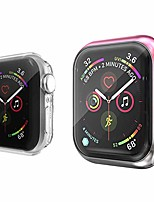 cheap -2-pack screen protector case compatible with apple watch series 5/4/3/2/1 38mm/40mm/42mm/44mm, soft tpu gradient color case all around protective cover bumper shell (pink gray, 38 mm)