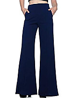 cheap -women's stretchy high waist wide leg palazzo lounge pants long work pants with pockets