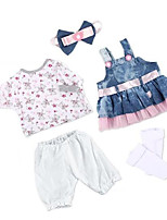 cheap -Reborn Baby Dolls Clothes Reborn Doll Accesories Fabrics for 20-22 Inch Reborn Doll Not Include Reborn Doll Soft Pure Handmade Girls' 5 pcs