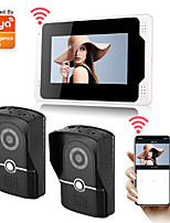 cheap -WIFI / Wired & Wireless Recording 7inch Monitor Video Intercoms Home Security System Video Doorbell Door phone with 1080P HD camera Multi-language support remote control Tuay APP