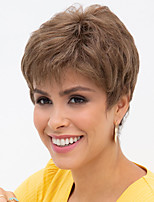 cheap -Synthetic Wig Curly Pixie Cut With Bangs Wig Short Brown Synthetic Hair Women's Fashionable Design Exquisite Comfy Brown