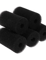 cheap -5 Pcs Aquarium Sponge Filter Protector Cover For Fish Tank Inlet Pond Black Foam Fish Aquatic Pet Filters
