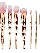 cheap -makeup brushes 7pieces professional makeup brush set loose powder more than paint repair capacity powder blush brush eye shadow brush high light brush eyebrow brush (rose gold)