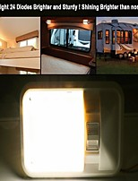 cheap -2Pcs 3.5W 6500K 2 X Neutral White 24 LED  Caravan RV Jeep Fixture Single Dome Interior Light