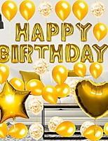 cheap -gold birthday decorations party supplies set (50 pc), balloons, tassels, banner, dispensing, pump for birthday party - ballerina party - bachelorette party
