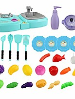 cheap -29pcs in 1 kitchen play toy mini multi-purpose gas stove wash sink early educational toys for kids children