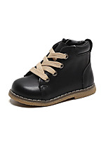 cheap -Boys' Girls' Boots Combat Boots PU Little Kids(4-7ys) Daily Walking Shoes Black Brown Fall Winter / Booties / Ankle Boots / TPR (Thermoplastic Rubber)
