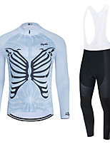 cheap -WECYCLE Men's Women's Long Sleeve Cycling Jersey Cycling Tights Winter Black Dark Gray Black / White Bike Breathable Quick Dry Sports Mountain Bike MTB Road Bike Cycling Clothing Apparel / Stretchy