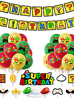 cheap -Party Balloons 34 pcs Happy Birthday Party Supplies Latex Balloons Banner Boys and Girls Party Birthday Decoration 12 Inch for Party Favors Supplies or Home Decoration