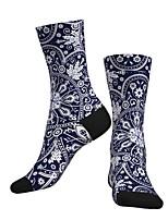 cheap -Crew Socks Compression Socks Calf Socks Athletic Sports Socks Cycling Socks Men's Women's Bike / Cycling Breathable Soft Comfortable 1 Pair Graphic Cotton Dark Navy S M L / Stretchy