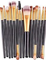 cheap -memela 15 pcs/sets eye shadow foundation eyebrow lip brush makeup brushes tool (black)