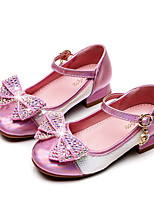 cheap -Girls' Heels Moccasin / Flower Girl Shoes / Princess Shoes Rubber / PU Little Kids(4-7ys) / Big Kids(7years +) Walking Shoes Rhinestone / Buckle / Sequin Pink / Silver Spring / Fall / Party & Evening