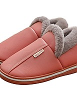 cheap -Women's Slippers / Men's Slippers House Slippers Casual PU Shoes