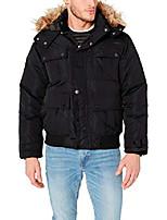 cheap -men's big and tall bomber parka jacket, charcoal, 3x