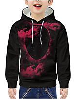 cheap -Kids Boys' Active 3D Print Long Sleeve Hoodie & Sweatshirt Fuchsia