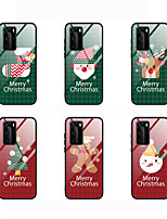 cheap -Case For Huawei Huawei mate 30/ Huawei P40 / Huawei P40 Pro Shockproof Back Cover Cartoon / Christmas TPU