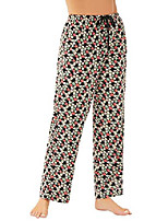 cheap -women's cotton pajama pants drawstring lounge pants with pockets comfortable lounge pants black printed size 2xl